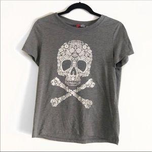Skull Graphic Tee Shirt